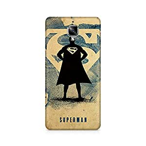 Ebby Superman Standing Premium Printed Case For OnePlus Three