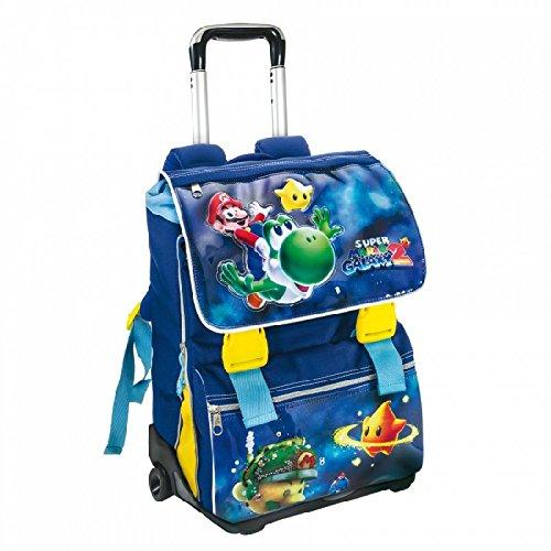 Zaino TROLLEY Super Mario Galaxy 2 Scuola Estensibile NUOVO ORIGINALE OFFERTA