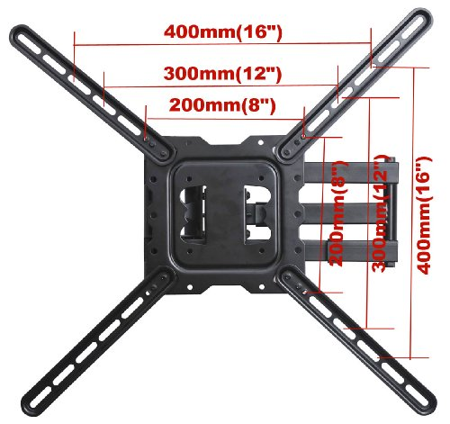 videosecu swing arm tv wall mount for most 22 to 55 led lcd tv vesa 200 200 400 400 up to. Black Bedroom Furniture Sets. Home Design Ideas