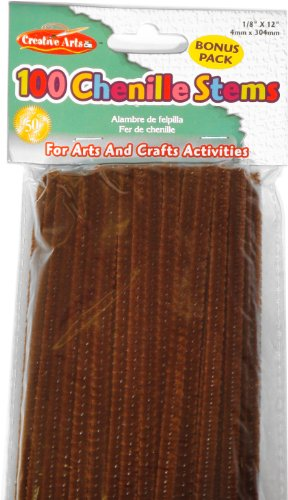 charles-leonard-chenille-stems-4-mm-x-12-inch-brown-100-bag-65450