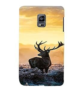 PrintVisa Animal Deer Design 3D Hard Polycarbonate Designer Back Case Cover for Samsung Galaxy Note Edge