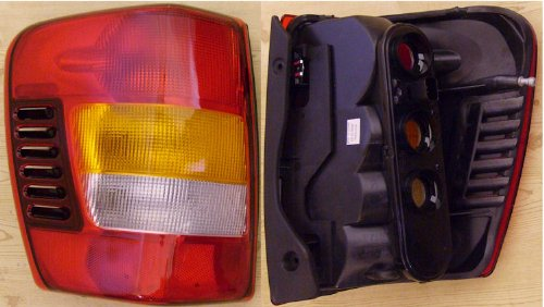 2003-2004 Jeep Grand Cherokee Left Side Rear Only -- Rear Tail Lamp Light FROM 08/02,W/O PAINTING replaces OEM 55155139AG Interchange 166-2054 Partslink CH2800150