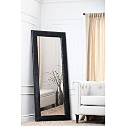 Large Leather Floor Mirror - - 31W x 70H in.