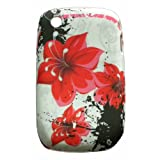 Xtra-Funky Exclusive Soft Silicone Red Flower Floral Case for Blackberry Curve 8520/9300by Xtra-Funky