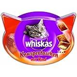 Whiskas Snacks Knuspertaschen mit Rind, 4er Pack (4 x 60 g)