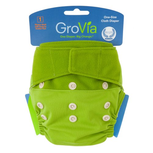 GroVia Single Diaper Shell - Hook and Loop Kiwi