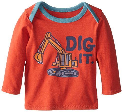 Life Is Good Baby Ringer Long Sleeve Dig It T-Shirt (Chili Red), 184