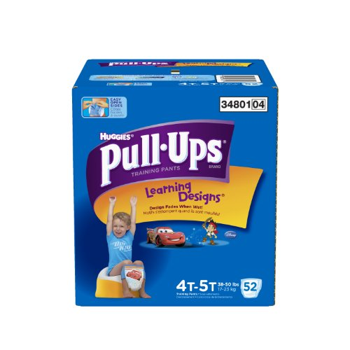 Huggies Pull-Ups Learning Designs Training Pants for Boys, Giga Pack, Size 4T-5T, 52 Count - 1