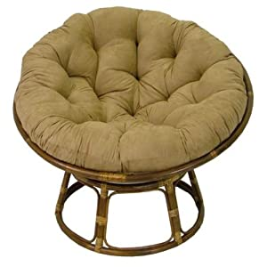Amazon.com - Rattan Papasan Chair with Cushion