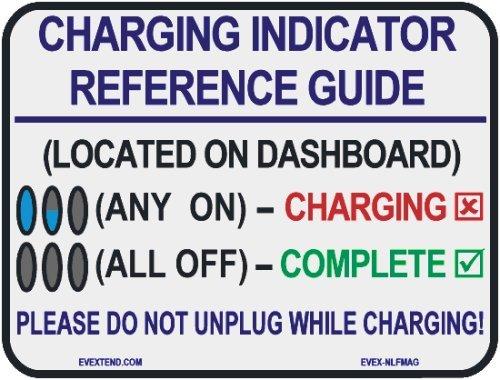 Evmagnet (Evex-Nlfmag-Nlf) White Charging Reference Magnet For Nissan Leaf