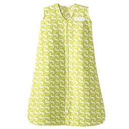 HALO SleepSack Micro Fleece Wearable Blanket, Green Gecko, Small