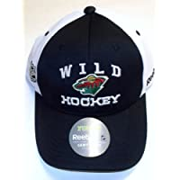 NHL Minnesota Wild Pro Shape Adjustable Velcro Strap Reebok Hat - Youth 4 - 7 YRS - NH78B