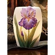 Purple Bearded Iris Night Lamp
