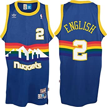 Mens Alex English #2 Denver Nuggets NBA Throwback Swingman Basketball Jersey by... by adidas