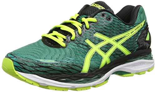 Asics GEL-Nimbus 18 Scarpe Running Uomo, Verde (Pine/Flash Yellow/Black), 44.5 EU