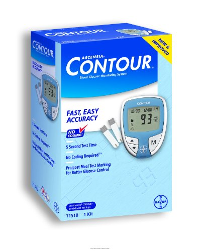 Cheap Bayer's Contour Blood Glucose Monitoring System, Ascensia Contour Diab Meter, (1 EACH, 1 EACH) (UHS-AMS7151-1EACH)