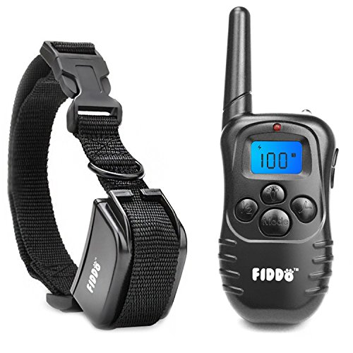 Fiddo-Electric-Dog-Collar-330-Yards-Remote-Dog-Training-E-collar-with-BeepVibrationShock-Electric