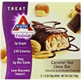 Atkins Endulge Bars, Caramel Nut Chew, 1.2-Ounce Bars (Pack of 5)