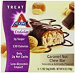 Atkins Endulge Bar Caramel Nut Chew,...