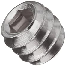 18-8 Stainless Steel Set Screw, Hex Socket Drive, Flat Point