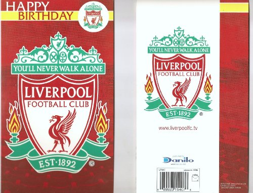 Official Liverpool Fc Happy Birthday Card Liverpool Fc Gift Shop