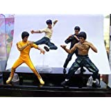 "Brand New 4pcs Bruce Lee Kung fu Master PVC 4""action figures"