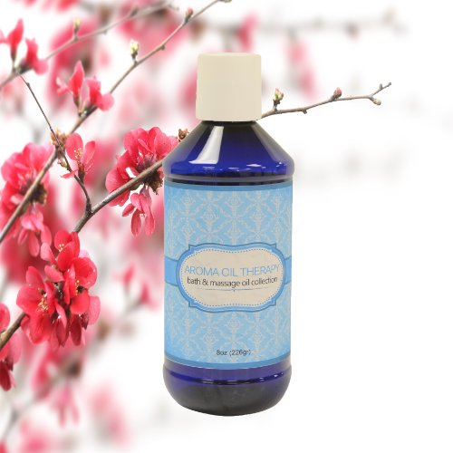 Aroma Oil Therapy Japanese Cherry Blossom Bath & Massage Oil - 8 Oz