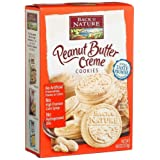 Back to Nature Creme Sandwich Cookies, Peanut Butter, 9.6-Ounce Packages (Pack of 12) ~ Back to Nature