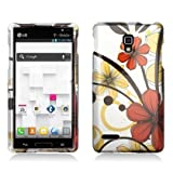 Aimo Wireless LGP769PCIMT067 Hard Snap-On Image Case For Optimus L9 - Retail Packaging - Red Cherry Blossom