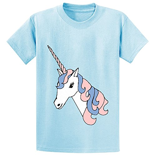 Likeu Unicorn White Cute Teen Personalized Crew Neck T Shirts L-blue (2015 Calendar Kirby compare prices)
