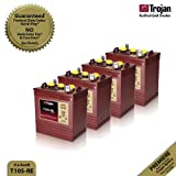 4x Trojan T105-RE Renewable Energy 6V GC2 Deep Cycle Battery 225Ah