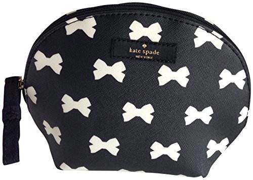Kate Spade Brightwater Drive Keri Cosmetic Make Up Case Black Cream