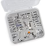 Embroidex 32 Sewing Feet in Plastic Storage Case - Works with all Low Shank Embroidery Machines Brother Babylock Bernina New Home Janome Juki Kenmore Singer