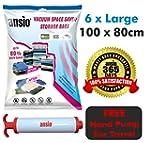 6 Pack Jumbo 100 x 80CM Vacuum Compre...
