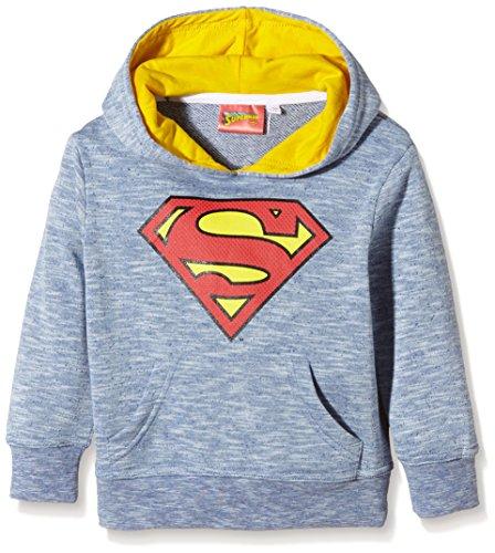 DC Comics Superman-Felpa Bambino    Blue (Blue Slub) 3 anni