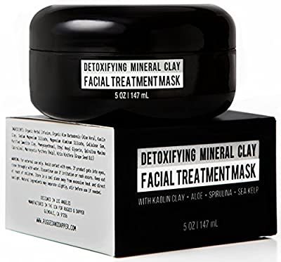 Best Cheap Deal for Detoxifying Mineral Clay Facial Treatment Mask For Men- 5 OZ - Combats Acne, Blackheads, Excess Oil & The Effects Of Aging By Extracting Toxic Impurities - Natural & Certified Organic Ingredients from RUGGED & DAPPER - Free 2 Day Shipp