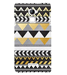 Zig Zag Pattern Design 3D Hard Polycarbonate Designer Back Case Cover for Coolpad Note 3 Lite