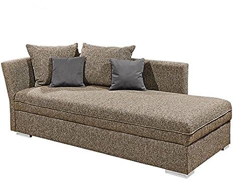 MERLE Polsterliege Polsterbett Schlafsofa Couch Sofa 208x79x98 cm Beige