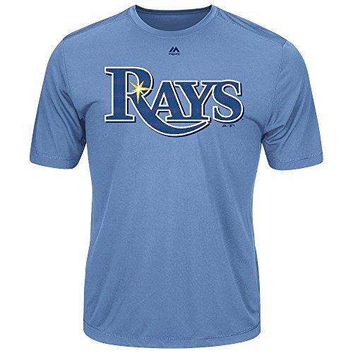 Tampa Bay Rays Adult Evolution Color T-Shirt (Medium, Light Blue)