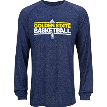 Adidas Golden State Warriors Heathered Climalite Long Sleeve T-Shirt Small