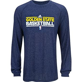 adidas Golden State Warriors Heathered ClimaLite Long Sleeve T-Shirt