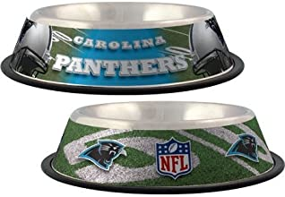 Domestic Pet Nfl Dog Clothing-Carolina Panthers Stainless Bowl Gifts