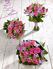 Pink and Lilac Wedding Rose and Freesia Collection 1