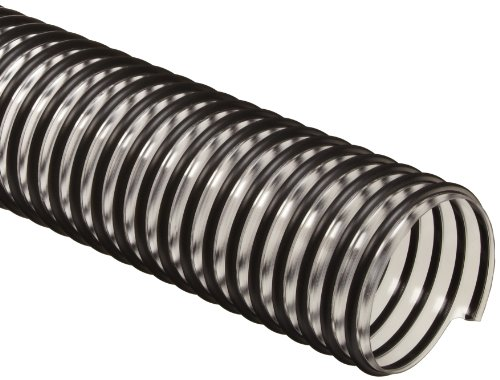 "Flex-Tube PV PVC Duct Hose, Clear, 6"" ID, 0.035"" Wall, 25"