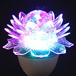 DECORATIVE DISCO ROTATING LOTUS LED BULB LIGHT FOR DIWALI FESTIVAL PARTY Decoration