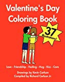 Valentine's Day Coloring Book - Love-Friendship-Feeling-Hug-Kiss-Care