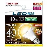 東芝 LED電球 広配光形(配光角度180度)ミニクリプトン形電球色E17口金40W形相当LDA4L-G-E17/S/40W
