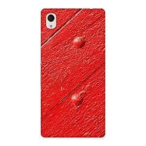 Red Texture Wood Designer Back Case Cover for Xperia M4 Aqua