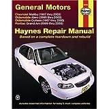 General Motors: Chevrolet Malibu (1997 thru 2003) Oldsmobile Alero (1999 thru 2003) Oldsmobile Cutlass (1997-2000...