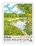 Signed 2017 PGA Championship Poster - Quail Hollow